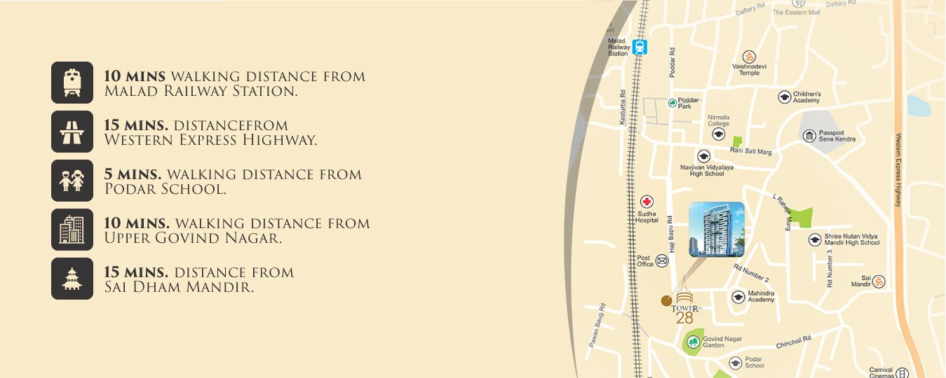 Tower 28 Malad Location Plan